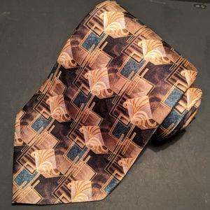 Pierre Cardin tie - brown, tan, blue
